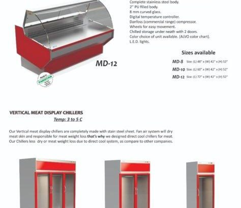 Vertical Meat Display Chiller, Carcass Chiller for Meat Shop, Meat Display Chiller in Pakistan, Vertical Meat Showcase, Meat Display Cabinet, Fresh Meat Display Chiller