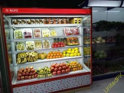 Fruit Display Chiller, Vegetable Chiller, Open Display Chiller in Pakistan, Multi Deck Chiller in Pakistan, Multi Deck Chiller, Up Right Chiller