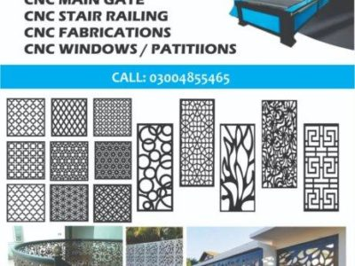 TECHNOSIGHT CNC Plasma Cutting Machine,CNC Cutting & Fabrication,CNC Gate, CNC Stair Railing, CNC Window, CNC Cutting Work in Pakistan by Technosight